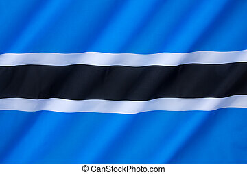 Flag of Botswana - Adopted in 1966 as the flag of the...
