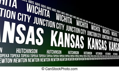 Kansas State Major Cities Banner - Animated scrolling banner...