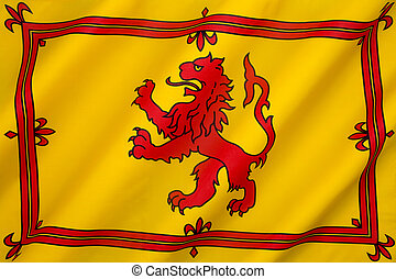 Royal Banner of the Royal Arms of Scotland - The Royal...
