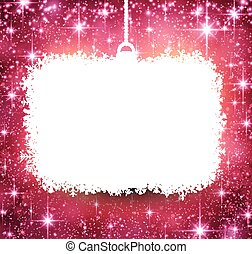 Christmas paper frame on pink background. - Christmas paper...