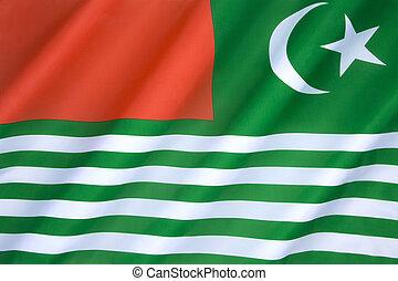 Flag of Kashmir - India - The regional flag of Kashmir -...