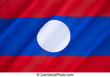 Flag of Laos - Flag of The Peoples Republic of Laos -...