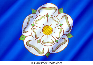 Flag and symbol of Yorkshire - United Kingdom - The British...