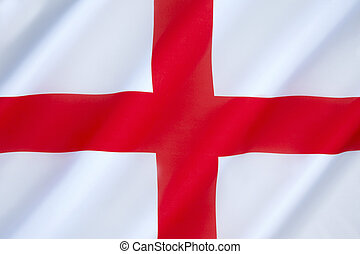 Flag of England - The association of the red cross as an...
