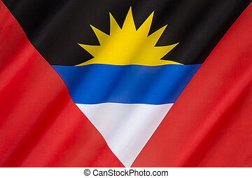 Flag of Antigua and Barbuda - Caribbean - The national flag...