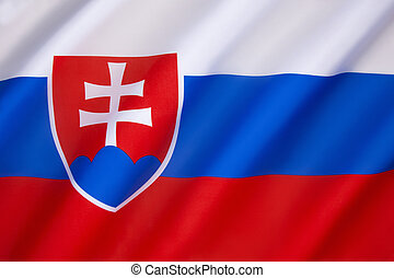 Flag of Slovakia - adopted by Slovakia's Constitution, which...