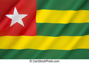 Flag of Togo - It uses the popular pan-African colors and...