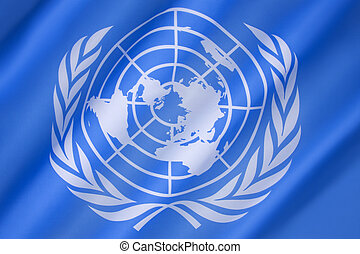 Flag of the United Nations - adopted on 20th October 1947,...