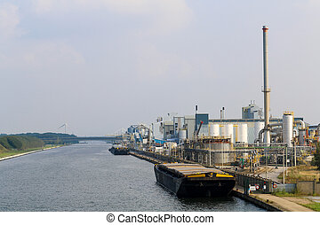 Albert Canal - 01 - Industry along the Albert Canal in...