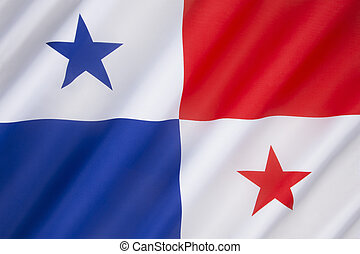 Flag of Panama - adopted in 1925. The flag is used in ship...