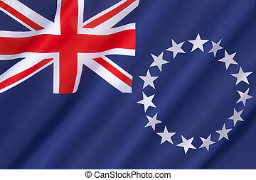 Flag of the Cook Islands - officially known as the Cook...