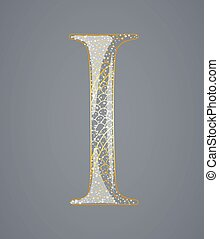 Abstract golden letter I.