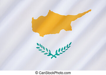 Flag of Cyprus - came into use on August 16th 1960, under...