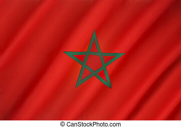 Flag of Morocco - The flag of Morocco - Red has considerable...
