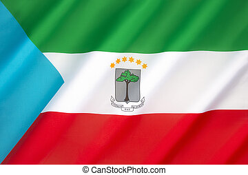 Flag of Equatorial Guinea - The flag of Equatorial Guinea -...