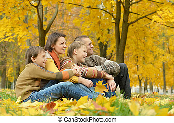 family of four people - happy family of four people relaxing...