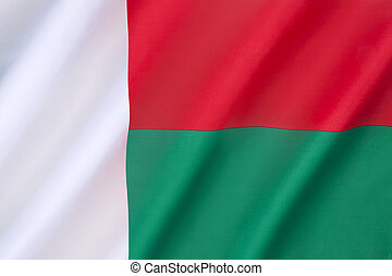 Flag of Madagascar - adopted on 14th October 1958, two years...