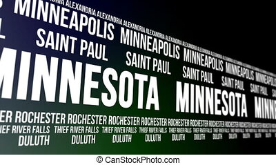 Minnesota State Major Cities Banner - Animated scrolling...