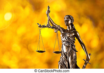 Themis in spotlight, law concept. - Themis in spotlight -...