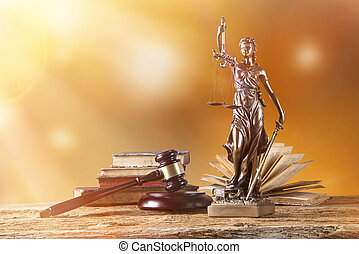 Themis in spotlight, law concept - Themis in spotlight -...