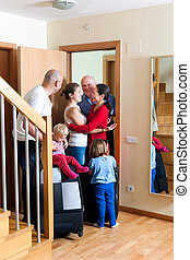 Family meeting relatives - Family seeing off the relatives...