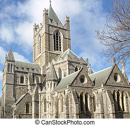 Christ Church Dublin - Christ Church in Dublin, gothic...