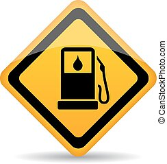 Petrol gas station vector sign