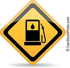 Petrol gas station