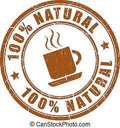 Natural coffee icon