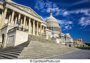 United States Capitol Building east facade, Washington DC,...