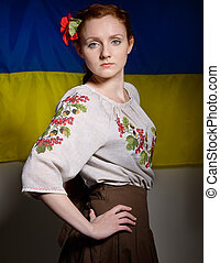 Ukrainian young generation - The young woman is wearing a...