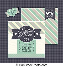 Retro wedding card