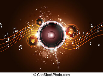 Music Party Gold Background - party music golden background...
