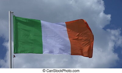 Flag Of Ireland 4K - Flag Of Ireland on the background of...