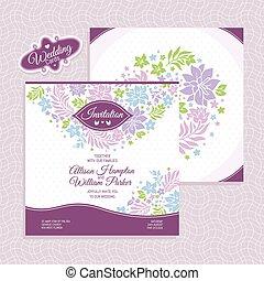 Floral wedding card