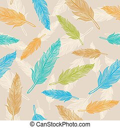 feather pattern - Seamless color feather pattern