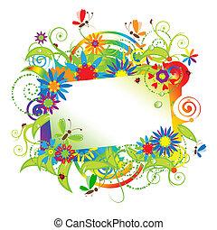 Été, rêves, salutation, carte