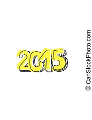 New Year 2015 vector hand drawn