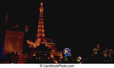Las Vegas Strip WS high angle - LS of the Las Vegas Strip...