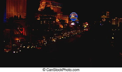 Las Vegas Strip WS high angle 2 - LS of the Las Vegas Strip...