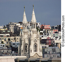 Saints Peter and Paul Church Spires - Distant view of Saints...