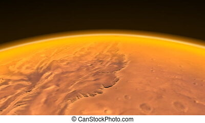 Mars Channels Flight. CG. hd