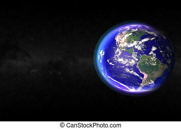 Earth Closeup. CG. ntsc