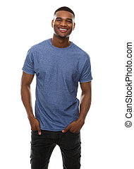Cool guy smiling - Portrait of a cool guy smiling on...