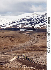 Icelandic F-Road (mountain road) road 901,...