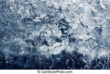 Ice texture, full frame, background - Ice texture,...
