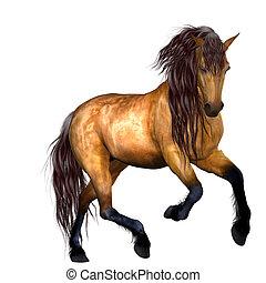 Beautiful Horse - 3D Render of an Beautiful Horse