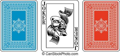Poker size Joker playing card plus reverse - Cards from the...