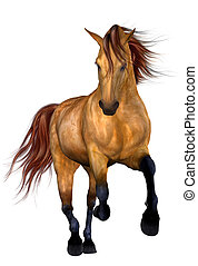 Beautiful Horse - 3D Render of an Beautiful Horse