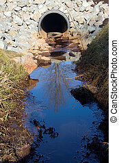 Storm Drain Outflow - A storm drain on a sunny day...